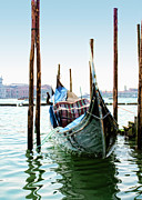 Edge Prints - A Gondola in Venice Print by Michelle Sheppard