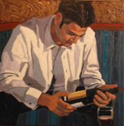 Oil Wine Paintings - A Good Choice by Christopher Mize