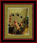 Playing Cards Posters - A Good Hand 2 Poster by Barbara Griffin