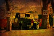 Old Pick Up Prints - A Good Parking Spot Print by Susanne Van Hulst