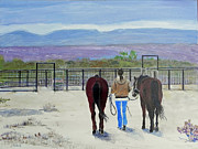 National Parks Paintings - A Good Ride by Christine Lathrop