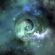 Digitally Generated Image Digital Art - A Gorgeous Nebula In Outer Space by Corey Ford