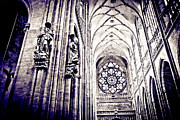 Vaulted Ceilings Posters - A Gothic Church Poster by Madeline Ellis