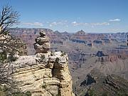 Lamdscape Prints - A Grand Canyon Viewpoint Print by Christiane Schulze