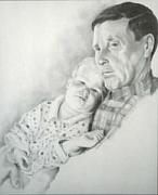 Family Drawings - A Grandpas Love by David Mittner