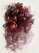 Vine Grapes Painting Posters - A Grape Mystery Poster by Rachel Christine Nowicki