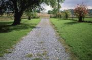 Historic Site Prints - A Gravel Road Marks The Entranceexit Print by Joel Sartore