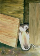 Animal Shelter Drawings - A great escape  -variation 2 by Yoshiko Mishina