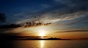 Tranquil Moments Posters - A Great Salt Lake Sunset Poster by Steven Milner