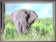 Animals Reliefs Originals - A Green Snack by John Hebb