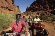 Dirt Roads Photos - A Group Of Atv-riders by Melissa Farlow