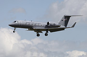 Landing Framed Prints - A Gulfstream C-20h Executive Transport Framed Print by Timm Ziegenthaler