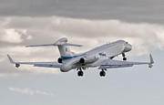 Commercial Prints - A Gulfstream G550 Eitam Of The Israeli Print by Giovanni Colla