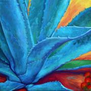 Cactus Paintings - A Hand Out by Athena  Mantle