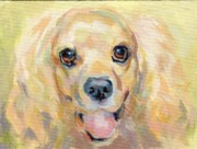 Soulful Eyes Paintings - A Happy Shadow by Kimberly Santini