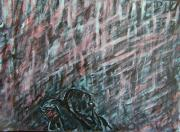 Moody Paintings - A Hard Rain Gonna Fall by Judith Redman
