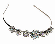 Rhinestone Prints - A Headband With Rhinestone Crystal Flowers Print by Steve Wisbauer