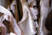 Ballet Pink Framed Prints - A Heap Of Ballet Shoes At Ballerina Framed Print by Kate Thompson