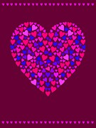 Love Making Digital Art - A Heart Made Up Of Small Hearts by Elmira Amirova