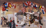 Flags Mixed Media - A History of Invention by Chuck Hamrick