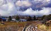 Barn Storm Prints - A Horse Ranch in the Clouds Print by Robert Lantry