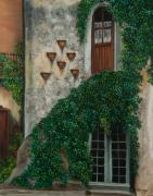 Italy Village Framed Prints - A House of Vines Framed Print by Charlotte Blanchard