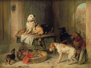 Guarding Prints - A Jack in Office Print by Sir Edwin Landseer