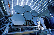 Astronautical Engineering Metal Prints - A James Webb Space Telescope Array Metal Print by Stocktrek Images