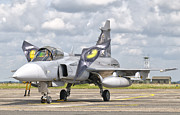 Airfield Prints - A Jas-39 Gripen Of The Czech Air Force Print by Giovanni Colla