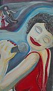 Jazz Singers Framed Prints - A jazz Singer Framed Print by Jennifer K Machado