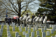 Escort Photos - A Joint Service Honor Guard Escorts by Stocktrek Images