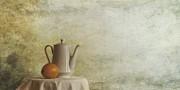 A Jugful Tea And A Orange Print by Priska Wettstein