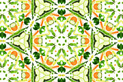 Healthy-lifestyle Prints - A Kaleidoscope Image Of Fresh Vegetables Print by Andrew Bret Wallis
