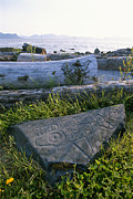 Petroglyph Prints - A Killer Whale Petroglyph On The Beach Print by Rich Reid