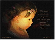 Girl Profile Prints - A kindness too late Print by Donald Carmichael