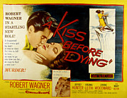 1956 Movies Prints - A Kiss Before Dying, Robert Wagner Print by Everett