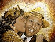 Keenya Woods Mixed Media Originals - A Kiss For A King by Keenya  Woods