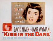 Wyman Prints - A Kiss In The Dark, Jane Wyman, David Print by Everett