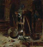 Onion Paintings - A Kitchen Corner by Willem Kalf