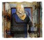 Hinges Prints - A Knock On The Door Print by Bob Salo