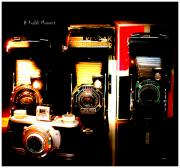 Camera Digital Art - A Kodak Moment - Cameras in Time by Steven  Digman