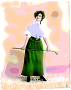 1-charles-shoup.fineartamerica.com Mixed Media - A Ladies Game by Charles Shoup