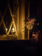 Oil Lamp Prints - A Lamp in the Window for My Love Print by Straublund Photography