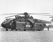 Sikorsky Photo Posters - A Large Ch-54 Skycrane Helicopter Used Poster by Stocktrek Images
