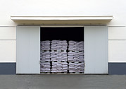 Storage Building Posters - A Large Warehouse Entrance. Blocked Poster by Guang Ho Zhu