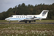Electronic Photos - A Learjet Of Gfd With Electronic by Timm Ziegenthaler