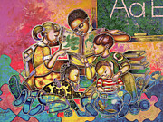 African-american Painting Originals - A Legacy Of Love And Learning by Larry Poncho Brown