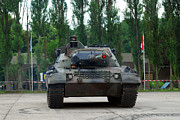 Component Metal Prints - A Leopard 1a5 Mbt Of The Belgian Army Metal Print by Luc De Jaeger