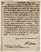 Slavery Prints - A Letter By Thomas Jefferson Print by Everett