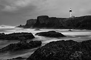 Rugged Coast Framed Prints - A light in the Storm Framed Print by Keith Kapple